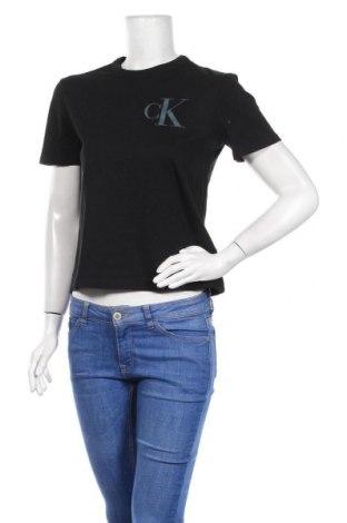 Дамска тениска Calvin Klein Jeans, Размер S, Цвят Черен, Памук, Цена 51,48лв.