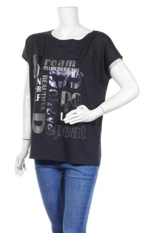 Дамска тениска Cartoon, Размер M, Цвят Черен, 50% памук, 50% модал, Цена 38,22лв.