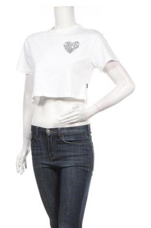 Γυναικείο t-shirt Converse, Μέγεθος S, Χρώμα Λευκό, Βαμβάκι, Τιμή 20,21€