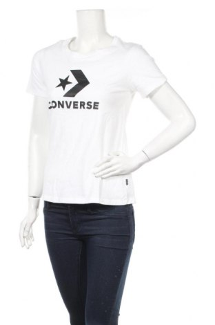Γυναικείο t-shirt Converse, Μέγεθος M, Χρώμα Λευκό, Βαμβάκι, Τιμή 24,33€