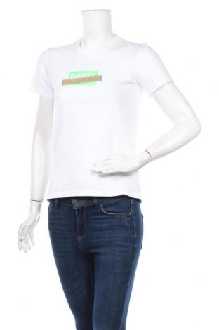 Дамска тениска Diesel, Размер S, Цвят Бял, Памук, Цена 69,42лв.