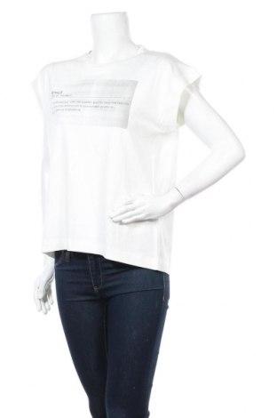 Дамска тениска Ecoalf, Размер M, Цвят Бял, 65% модал, 35% памук, Цена 23,20лв.