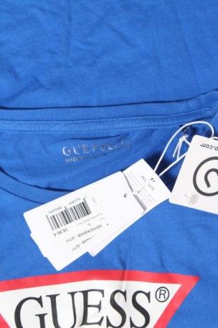 Дамска тениска Guess, Размер L, Цвят Син, 50% памук, 50% модал, Цена 46,02лв.