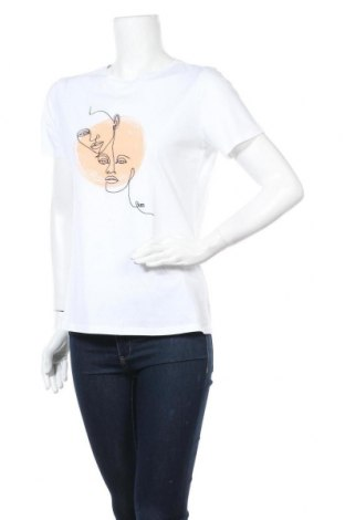 Дамска тениска Hugo Boss, Размер L, Цвят Бял, Памук, Цена 116,07лв.