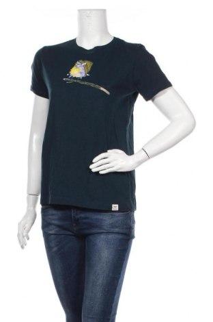 Дамска тениска Iriedaily, Размер L, Цвят Син, Памук, Цена 34,00лв.