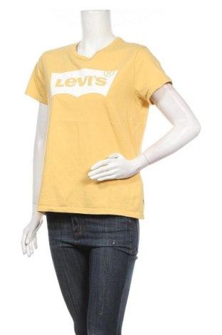 Дамска тениска Levi's, Размер L, Цвят Жълт, Памук, Цена 47,20лв.