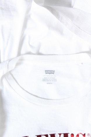 Дамска тениска Levi's, Размер S, Цвят Бял, Памук, Цена 40,88лв.