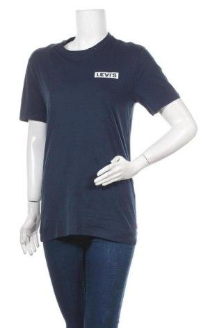 Дамска тениска Levi's, Размер M, Цвят Син, Памук, Цена 46,02лв.