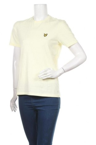Дамска тениска Lyle & Scott, Размер S, Цвят Жълт, Памук, Цена 60,84лв.