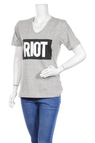 Дамска тениска Nakedshirt, Размер M, Цвят Сив, Памук, Цена 13,50лв.
