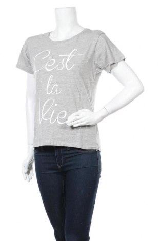 Дамска тениска Nakedshirt, Размер L, Цвят Сив, Памук, Цена 20,25лв.