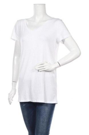 Дамска тениска Noppies, Размер M, Цвят Бял, 69% вискоза, 25% памук, 6% еластан, Цена 12,80лв.