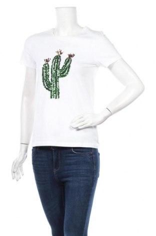 Дамска тениска ONLY, Размер S, Цвят Бял, Памук, Цена 21,60лв.