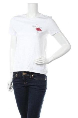 Дамска тениска ONLY, Размер S, Цвят Бял, Памук, Цена 22,62лв.