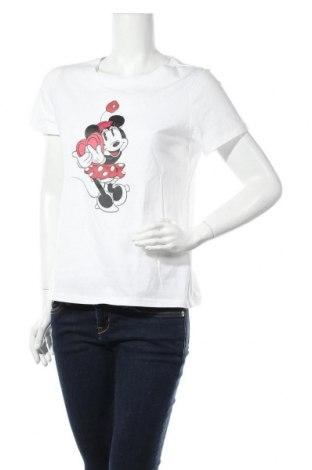 Дамска тениска ONLY, Размер L, Цвят Бял, Памук, Цена 22,62лв.