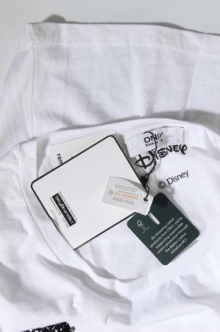 Дамска тениска ONLY, Размер L, Цвят Бял, Памук, Цена 29,00лв.