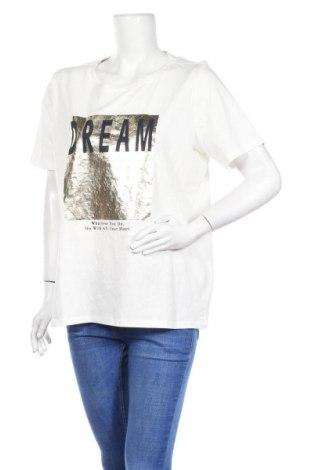 Дамска тениска S.Oliver, Размер XL, Цвят Бял, Памук, Цена 33,15лв.