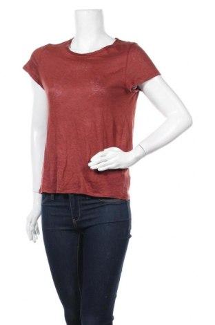 Дамска тениска Set, Размер M, Цвят Кафяв, Лен, Цена 53,82лв.