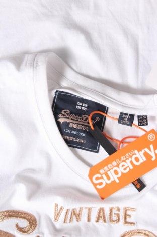 Дамска тениска Superdry, Размер L, Цвят Бял, Памук, Цена 53,04лв.