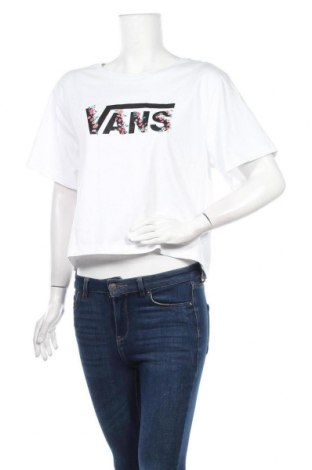 Дамска тениска Vans, Размер L, Цвят Бял, Памук, Цена 30,40лв.