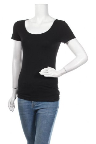 Дамска тениска Vero Moda, Размер S, Цвят Черен, 95% памук, 5% еластан, Цена 21,17лв.