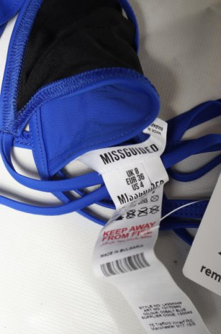 Дамски бански Missguided, Размер S, Цвят Син, 78% полиамид, 22% еластан, Цена 7,54лв.