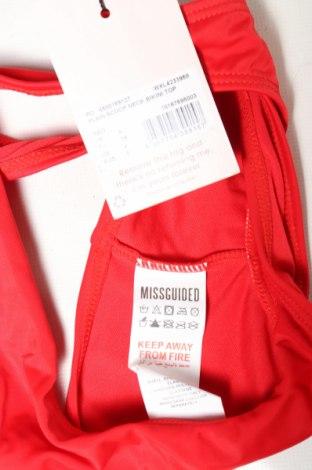 Дамски бански Missguided, Размер S, Цвят Червен, 82% полиамид, 18% еластан, Цена 9,57лв.