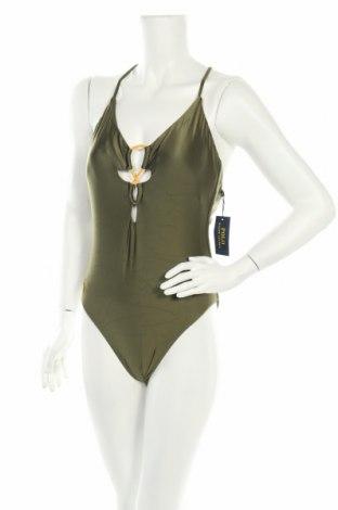 Дамски бански Polo By Ralph Lauren, Размер L, Цвят Зелен, 79% полиамид, 21% еластан, Цена 81,27лв.