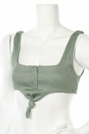 Дамски бански Pull&Bear, Размер L, Цвят Зелен, 91% полиамид, 9% еластан, Цена 20,44лв.
