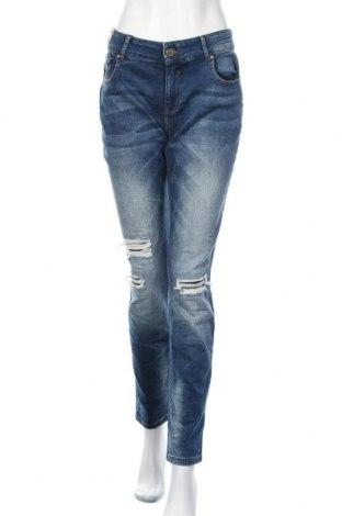 Дамски дънки, Размер XL, Цвят Син, 99% памук, 1% еластан, Цена 43,05лв.