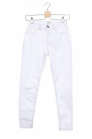 Дамски дънки Dorothy Perkins, Размер XS, Цвят Бял, 98% памук, 2% еластан, Цена 12,32лв.