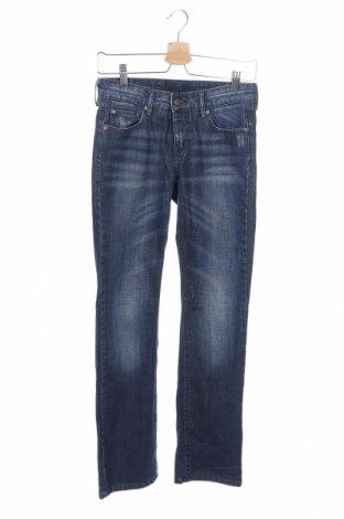 Дамски дънки La Redoute, Размер XS, Цвят Син, 98% памук, 2% еластан, Цена 20,79лв.
