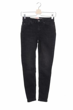 Дамски дънки Pieces, Размер XS, Цвят Черен, 89% памук, 9% полиестер, 2% еластан, Цена 51,75лв.