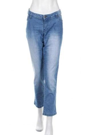 Дамски дънки Rainbow, Размер XL, Цвят Син, 79% памук, 19% полиестер, 2% еластан, Цена 21,95лв.