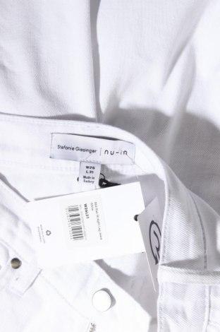 Дамски дънки Stefanie Giesinger for Nu-in, Размер S, Цвят Бял, 98% памук, 2% еластан, Цена 18,06лв.