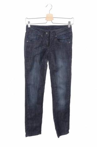 Дамски дънки Tom Tailor, Размер S, Цвят Син, 71% памук, 28% полиестер, 1% еластан, Цена 46,31лв.