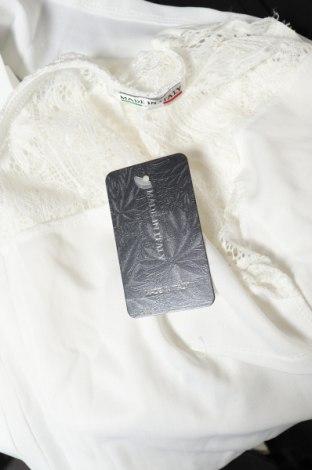 Дамски гащеризон, Размер S, Цвят Бял, 95% полиестер, 5% еластан, Цена 17,60лв.