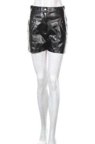 Дамски къс кожен панталон Missguided, Размер M, Цвят Черен, Еко кожа, Цена 34,50лв.