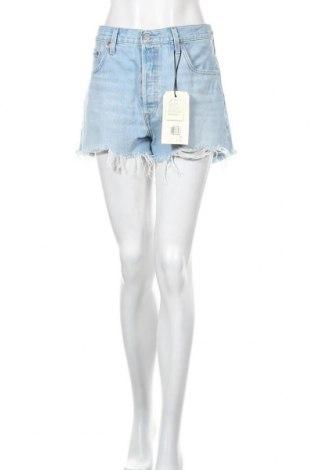 Дамски къс панталон Levi's, Размер XL, Цвят Син, Памук, Цена 47,17лв.