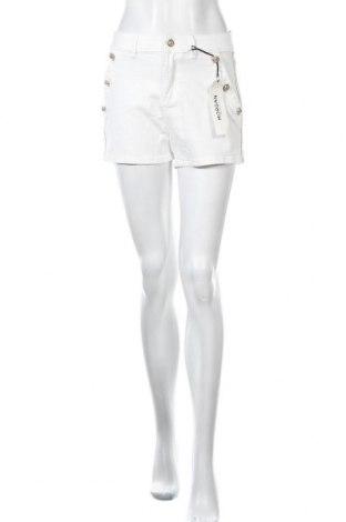 Γυναικείο κοντό παντελόνι Morgan, Μέγεθος S, Χρώμα Λευκό, 55% βαμβάκι, 33% βισκόζη, 10% πολυεστέρας, 2% ελαστάνη, Τιμή 11,34€