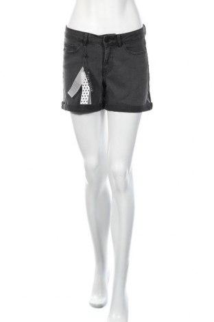 Γυναικείο κοντό παντελόνι Noisy May, Μέγεθος S, Χρώμα Γκρί, 79% βαμβάκι, 18% πολυεστέρας, 3% ελαστάνη, Τιμή 12,47€