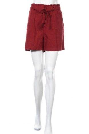 Γυναικείο κοντό παντελόνι Soya Concept, Μέγεθος L, Χρώμα Κόκκινο, 55% λινό, 45% βισκόζη, Τιμή 16,73€
