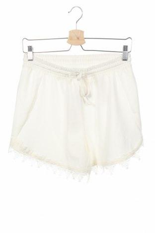 Γυναικείο κοντό παντελόνι Vila, Μέγεθος XS, Χρώμα Λευκό, 93% πολυεστέρας, 7% ελαστάνη, Τιμή 11,34€