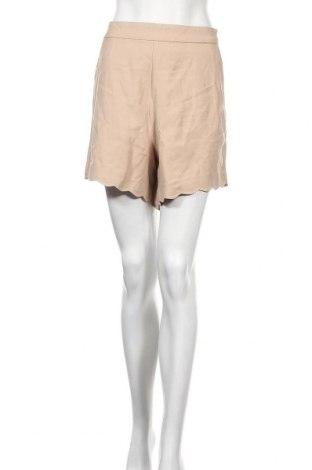 Γυναικείο κοντό παντελόνι Vila, Μέγεθος L, Χρώμα  Μπέζ, 91% βισκόζη, 9% πολυεστέρας, Τιμή 14,74€