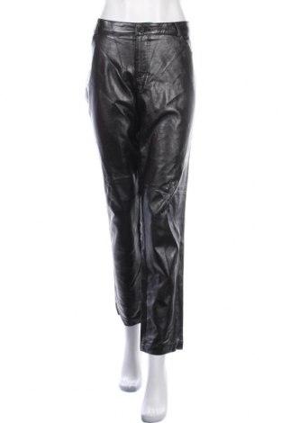 Дамски кожен панталон Body Flirt, Размер L, Цвят Черен, Еко кожа, Цена 23,10лв.