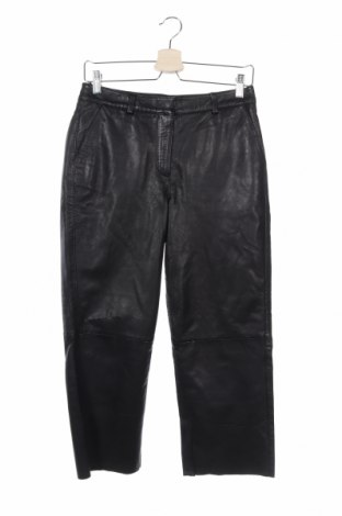 Дамски кожен панталон Heine, Размер S, Цвят Черен, Естествена кожа, Цена 47,70лв.