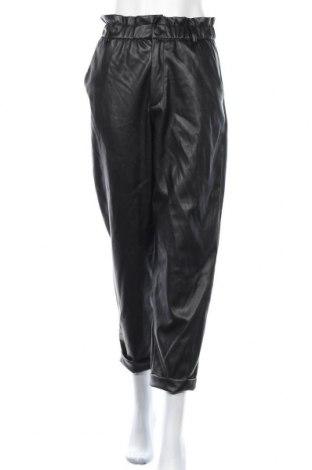 Γυναικείο παντελόνι δερμάτινο Zara, Μέγεθος M, Χρώμα Μαύρο, Δερματίνη, Τιμή 25,23€