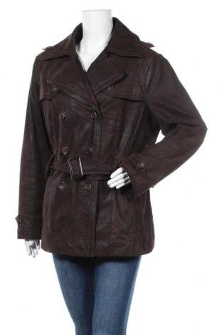Дамски кожен шлифер Yessica, Размер XL, Цвят Кафяв, Естествена кожа, Цена 47,88лв.