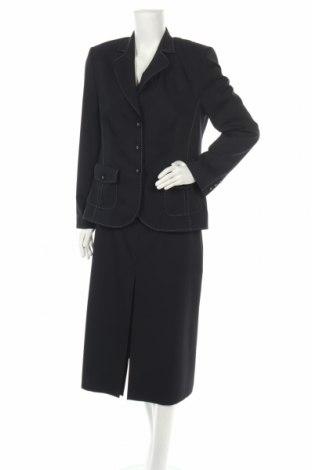 Dámský kostým   Basler, Velikost L, Barva Modrá, 67% polyester, 28% vlna, 5% elastan, Cena  517,00Kč