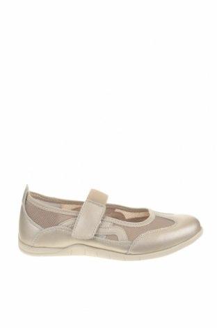 Γυναικεία παπούτσια Damart, Μέγεθος 37, Χρώμα Χρυσαφί, Γνήσιο δέρμα, κλωστοϋφαντουργικά προϊόντα, δερματίνη, Τιμή 28,90€